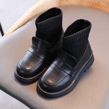 Girls Minimalist Wide Fit Sock Boots