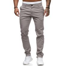 Men Slant Pocket Straight Leg Pants