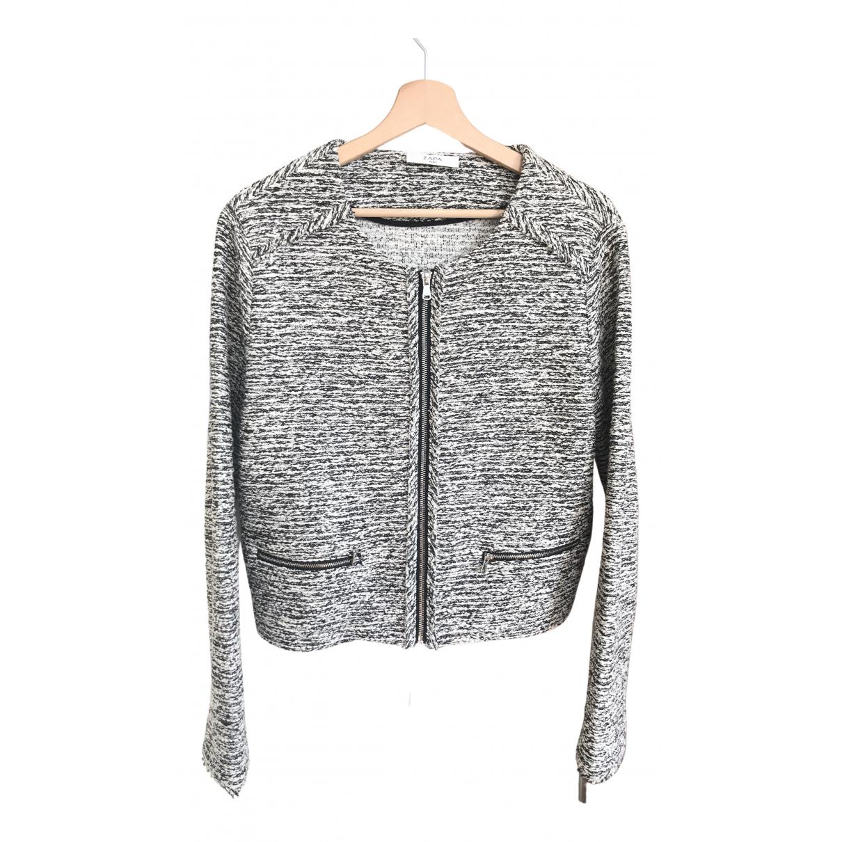 Zapa N Grey Cotton jacket for Women 42 FR