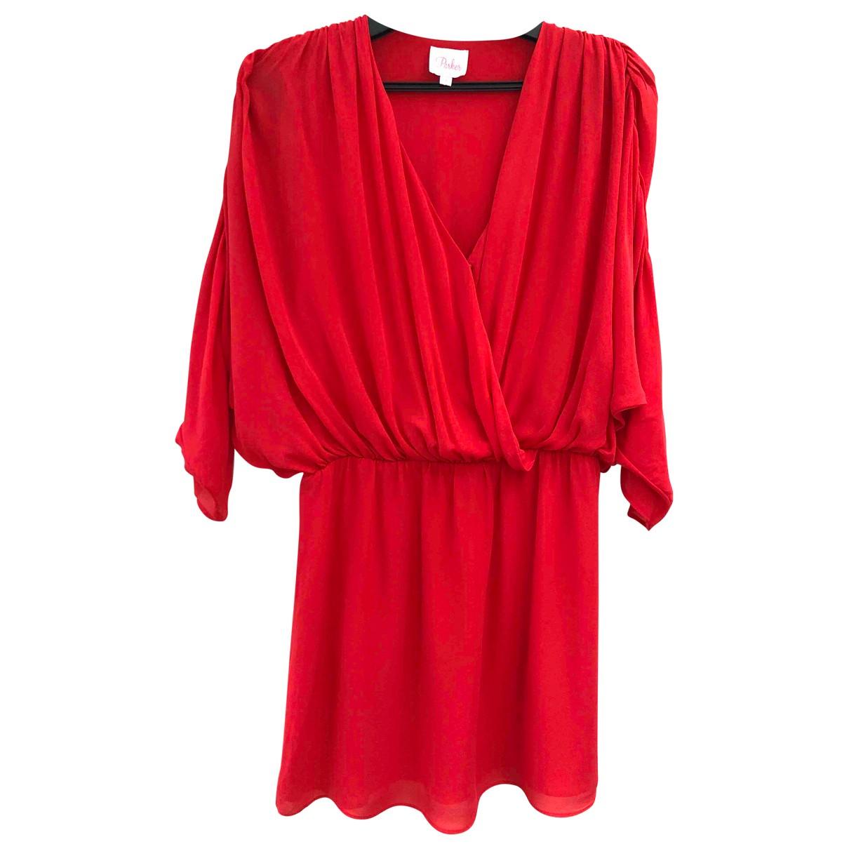 Mini vestido de Seda Parker Ny