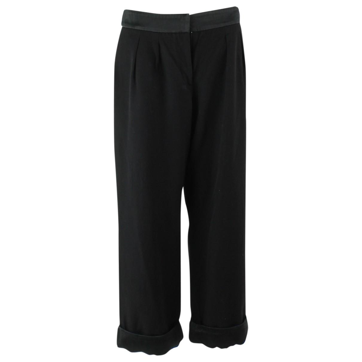Chanel \N Black Wool Trousers for Women 42 FR