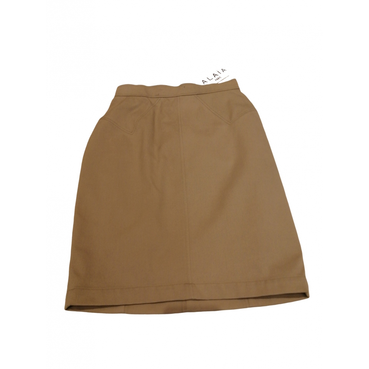 Alaïa \N Beige Cotton skirt for Women 38 FR