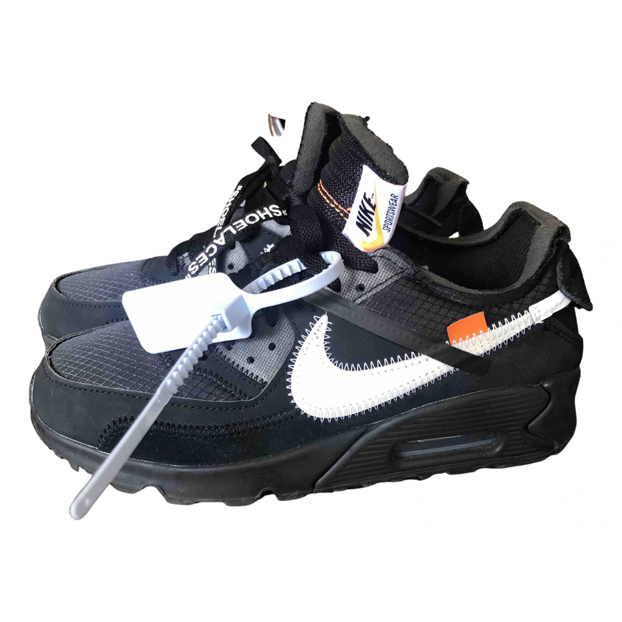 Nike X Off-white Air Max 90 Sneakers in  Schwarz Leinen