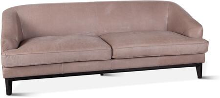ZWPLDSFGG Portlando Collection Sofa with Leather Upholstery in Light