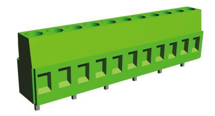 TE Connectivity , Buchanan 10.16mm Pitch, 6 Way PCB Terminal Strip, Green