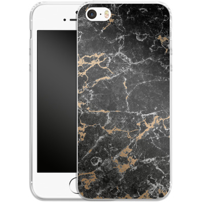 Apple iPhone 5 Silikon Handyhuelle - Marble and Gold von #basic