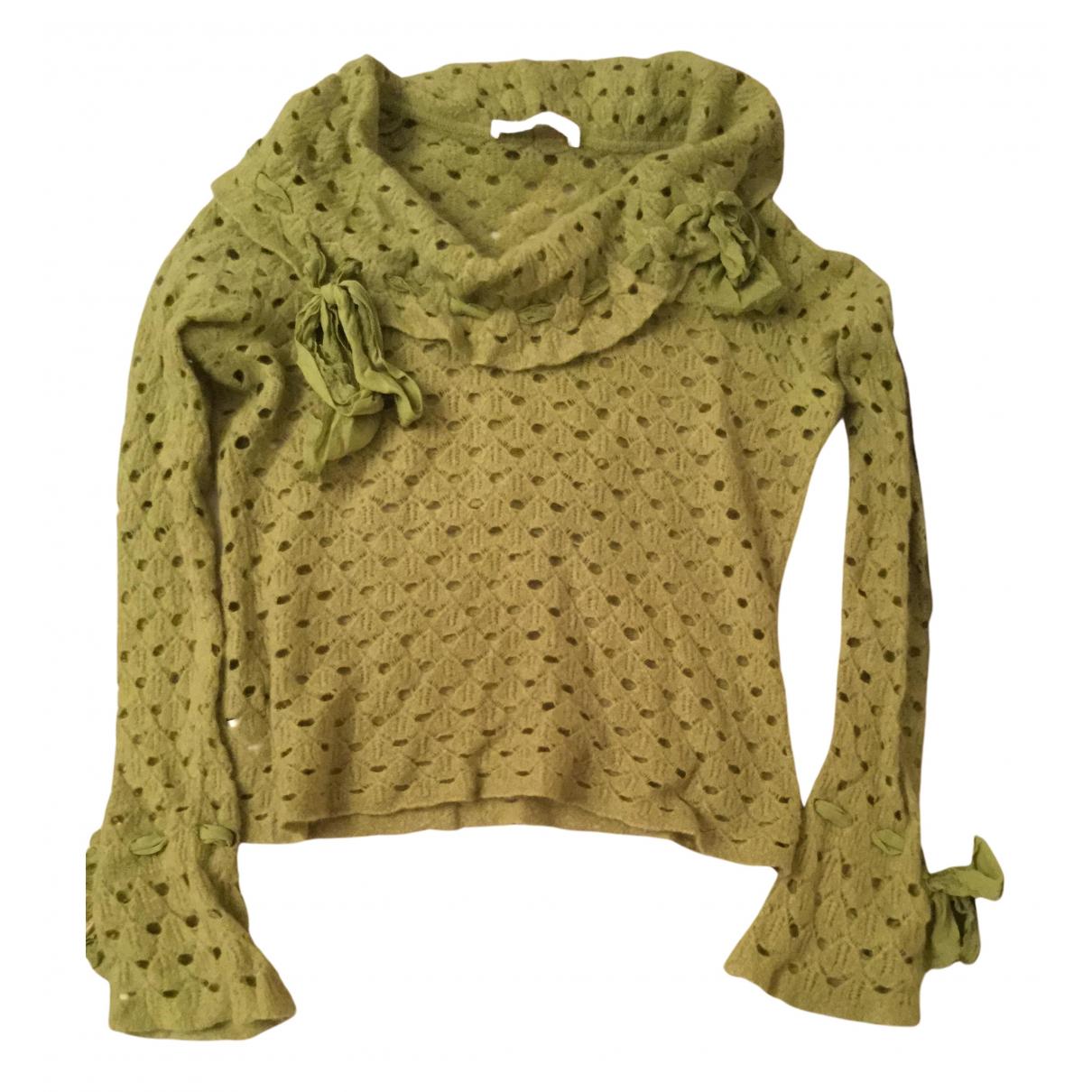Emanuel Ungaro - Pull   pour femme en laine - vert