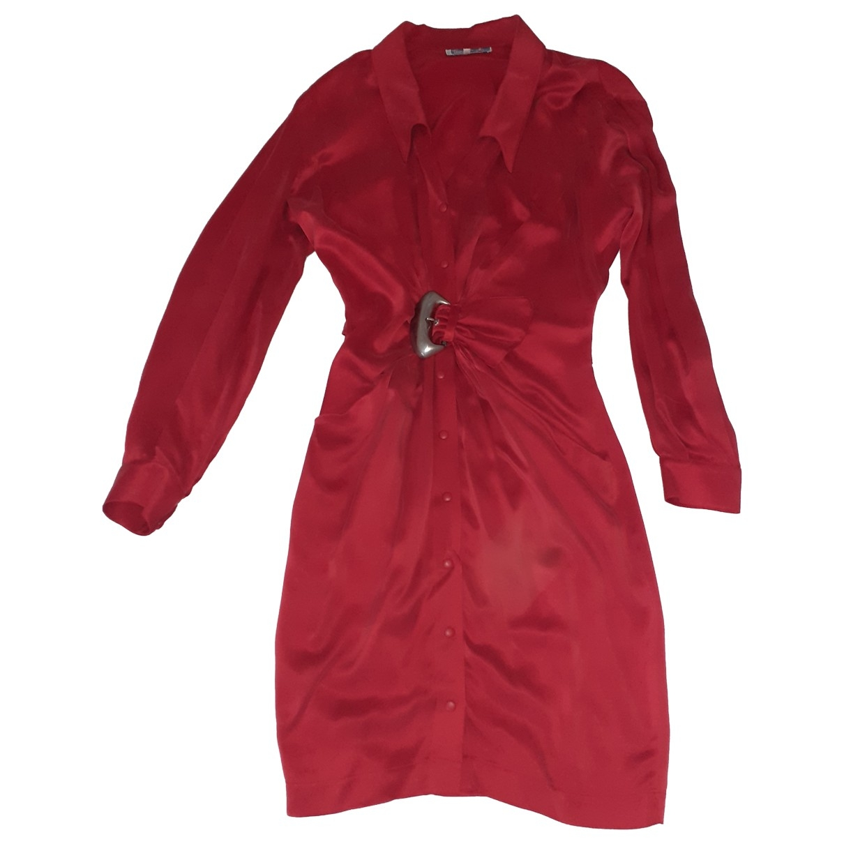 Thierry Mugler \N Red Silk dress for Women 38 FR