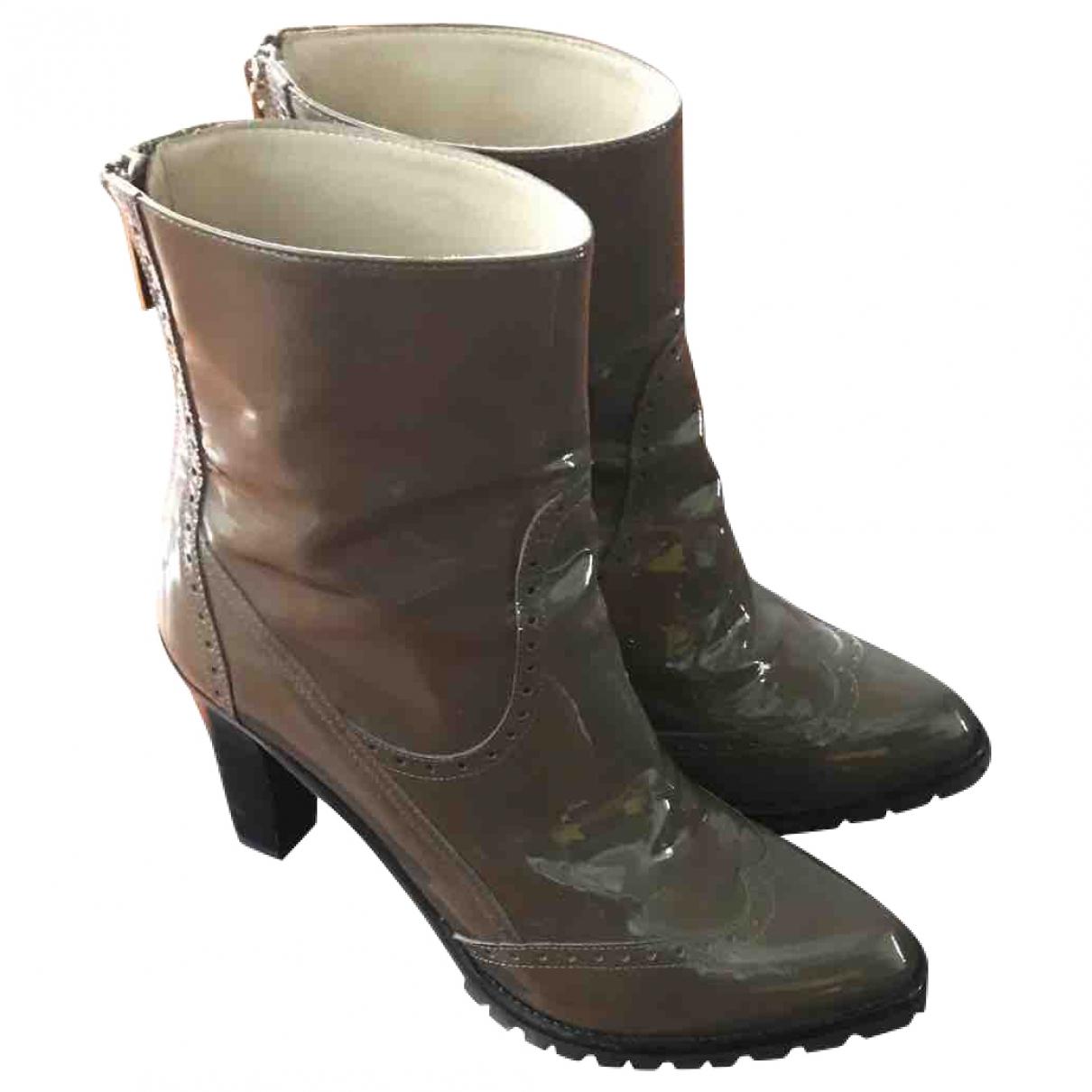 Fratelli Rossetti - Boots   pour femme en cuir verni - kaki