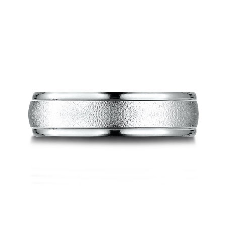 Mens 10K White Gold 6mm Band, 9 1/2 , No Color Family