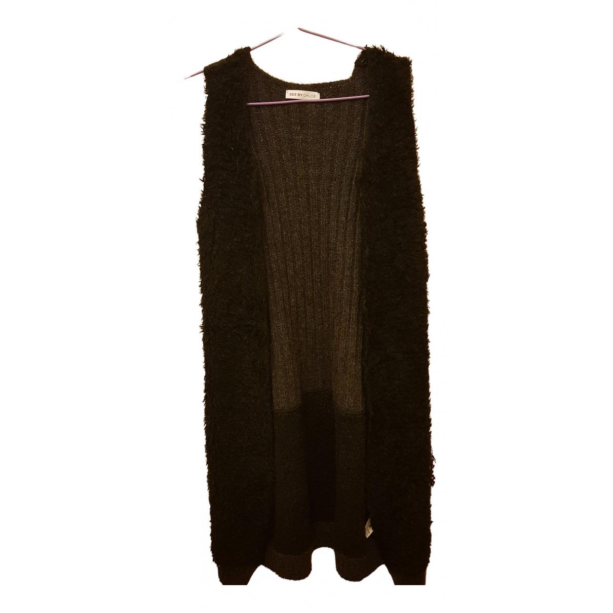 See By Chloe - Pull   pour femme en laine - noir