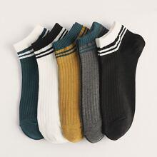 5 pares calcetines de hombres con diseño de rayas