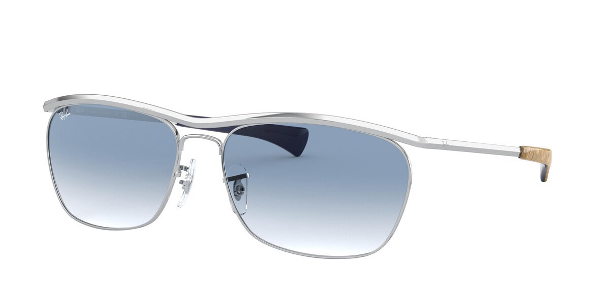 Ray-Ban RB3619 Olympian II Deluxe 003/3F Men's Sunglasses Silver Size 60