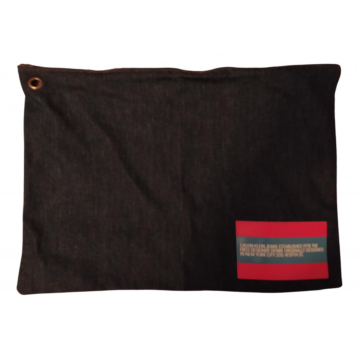Calvin Klein - Pochette   pour femme en denim - marine