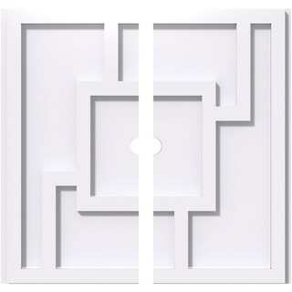 Knox Architectural Grade PVC Contemporary Ceiling Medallion (36OD x 2ID x 12 1/2C - Two Piece)
