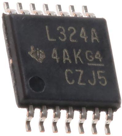 Texas Instruments TLV4316IPWR , Precision, Op Amp, RRIO, 10MHz, 14-Pin TSSOP (5)
