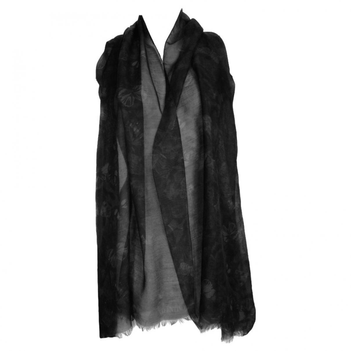 Valentino Garavani \N Black Cashmere scarf for Women \N