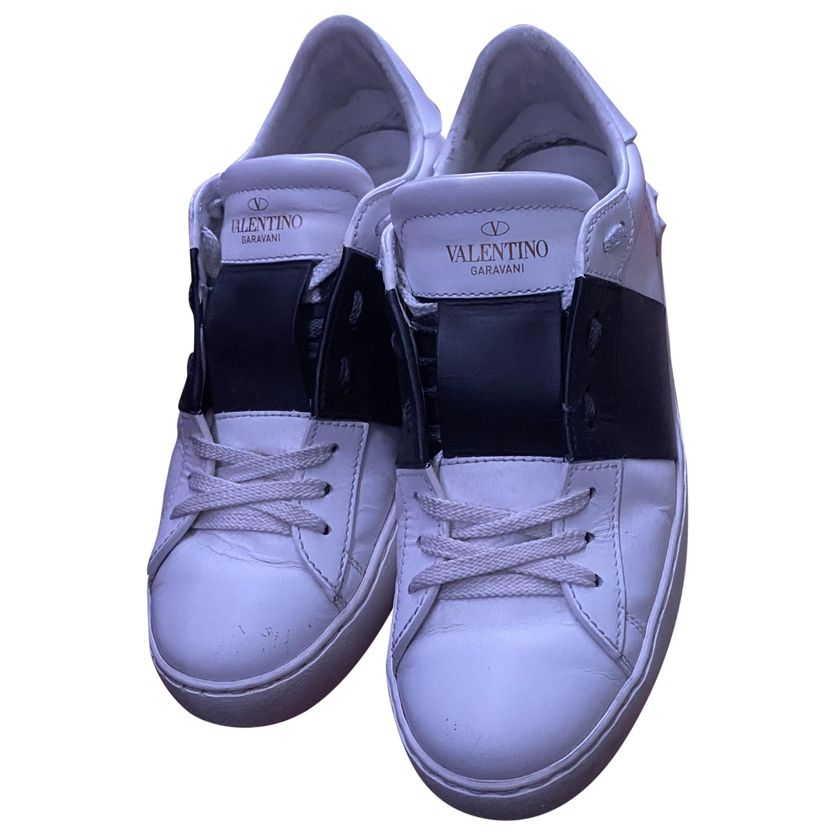 Valentino Garavani Rockstud White Leather Trainers for Women 37 EU