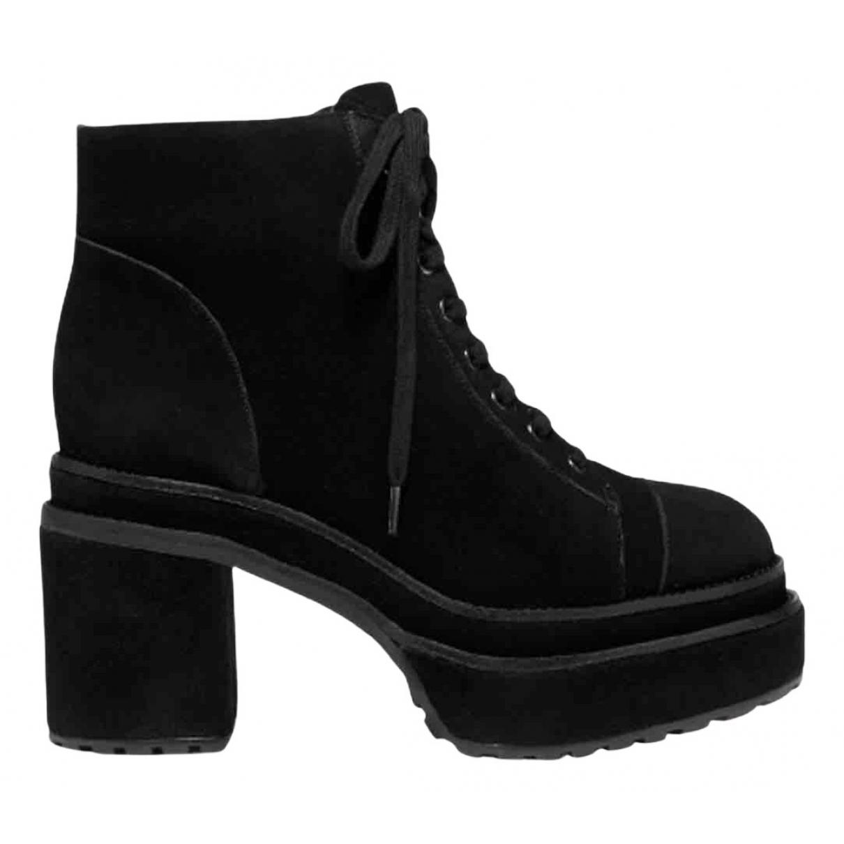 Cult Gaia - Boots   pour femme en suede - noir