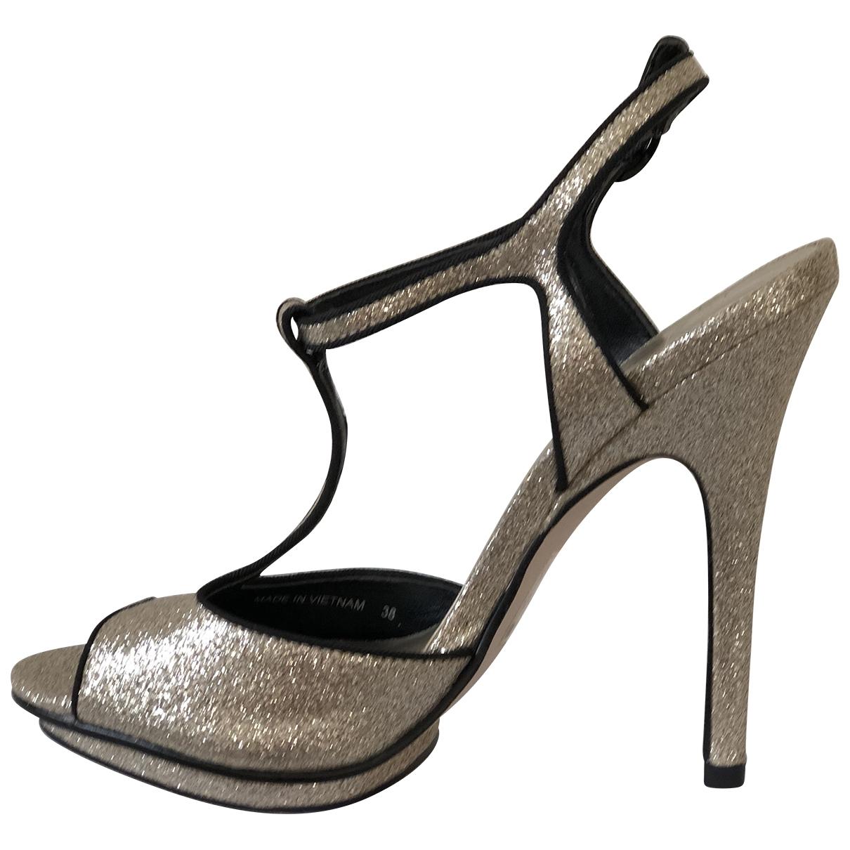 Carvela - Sandales   pour femme en a paillettes - dore