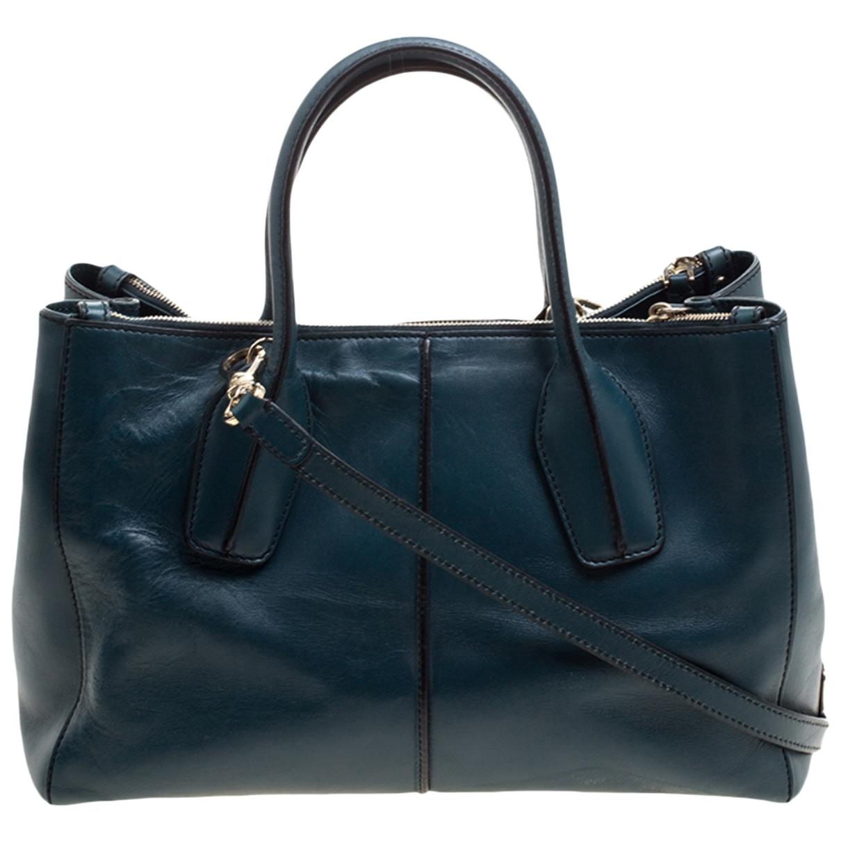 Tod's \N Handtasche in  Gruen Leder