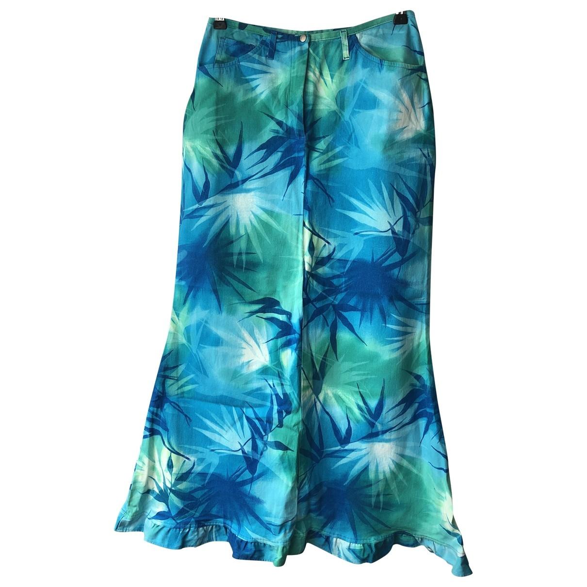 Elegance Paris - Jupe   pour femme en coton - elasthane - turquoise