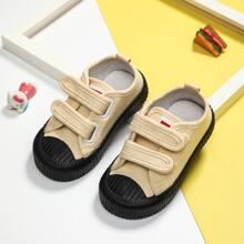 Kleinkind Jungen Zweifarbige Sneakers mit Klettverschluss