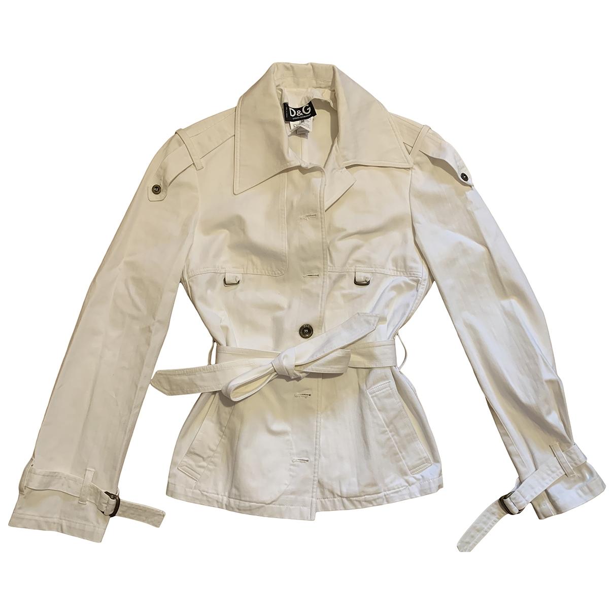 D&g \N White Cotton jacket for Women 44 IT