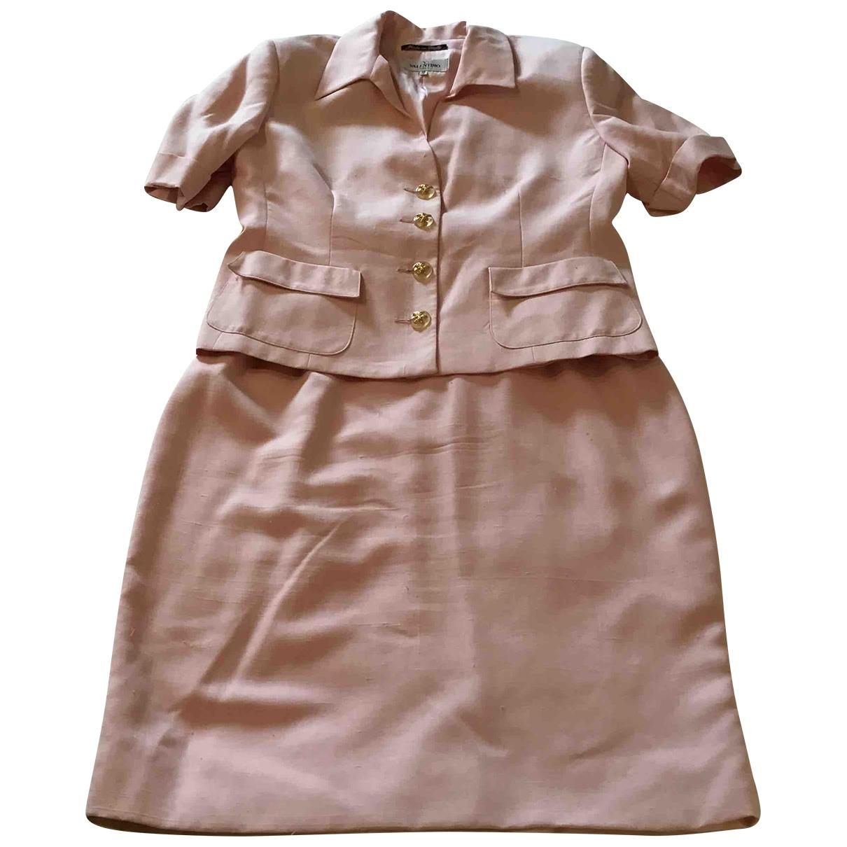 Valentino Garavani \N Pink Silk jacket for Women 14 UK