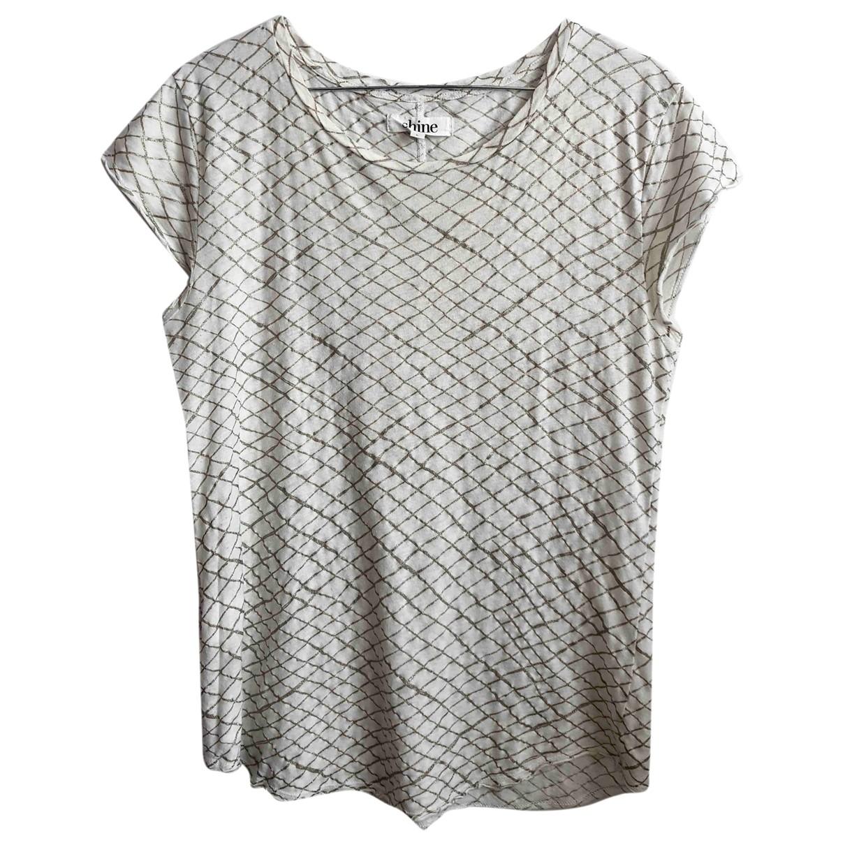 Shine - Top   pour femme en coton - blanc