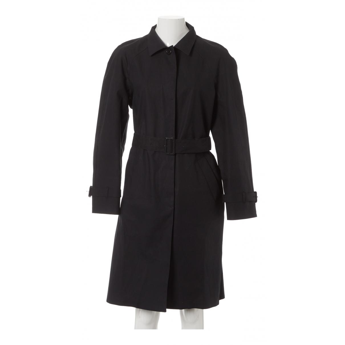 Prada \N Black Cotton coat for Women 46 IT