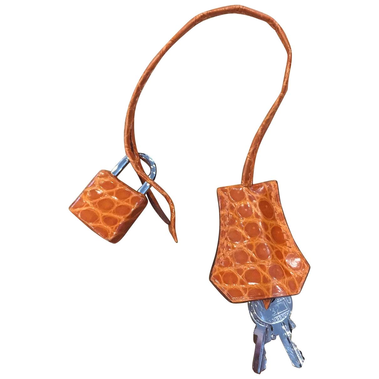 Hermes - Bijoux de sac   pour femme en cuir - orange