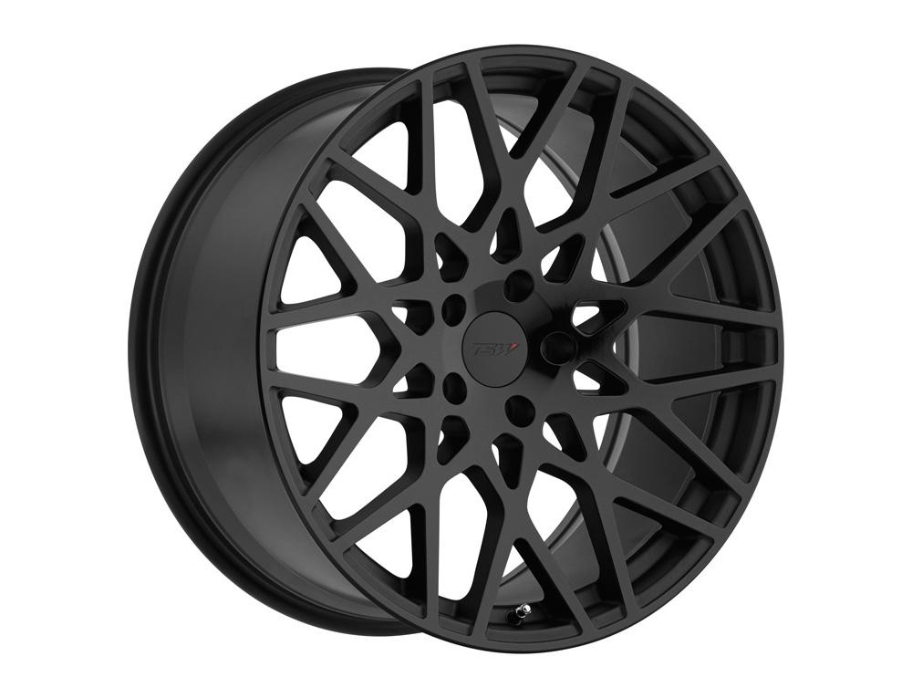 TSW Vale Wheel 18x9.5 5x112 35mm Double Black - Matte Black w/ Gloss Black Face
