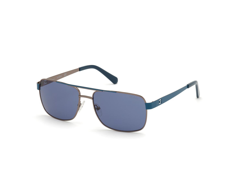 Guess Men's Gradient Gu6968 GU6968-08V-58 Grey Rectangle Sunglasses