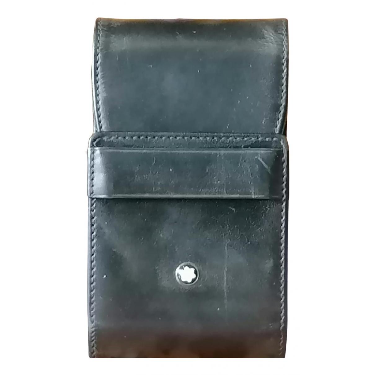 Montblanc - Objets & Deco   pour lifestyle en cuir - noir