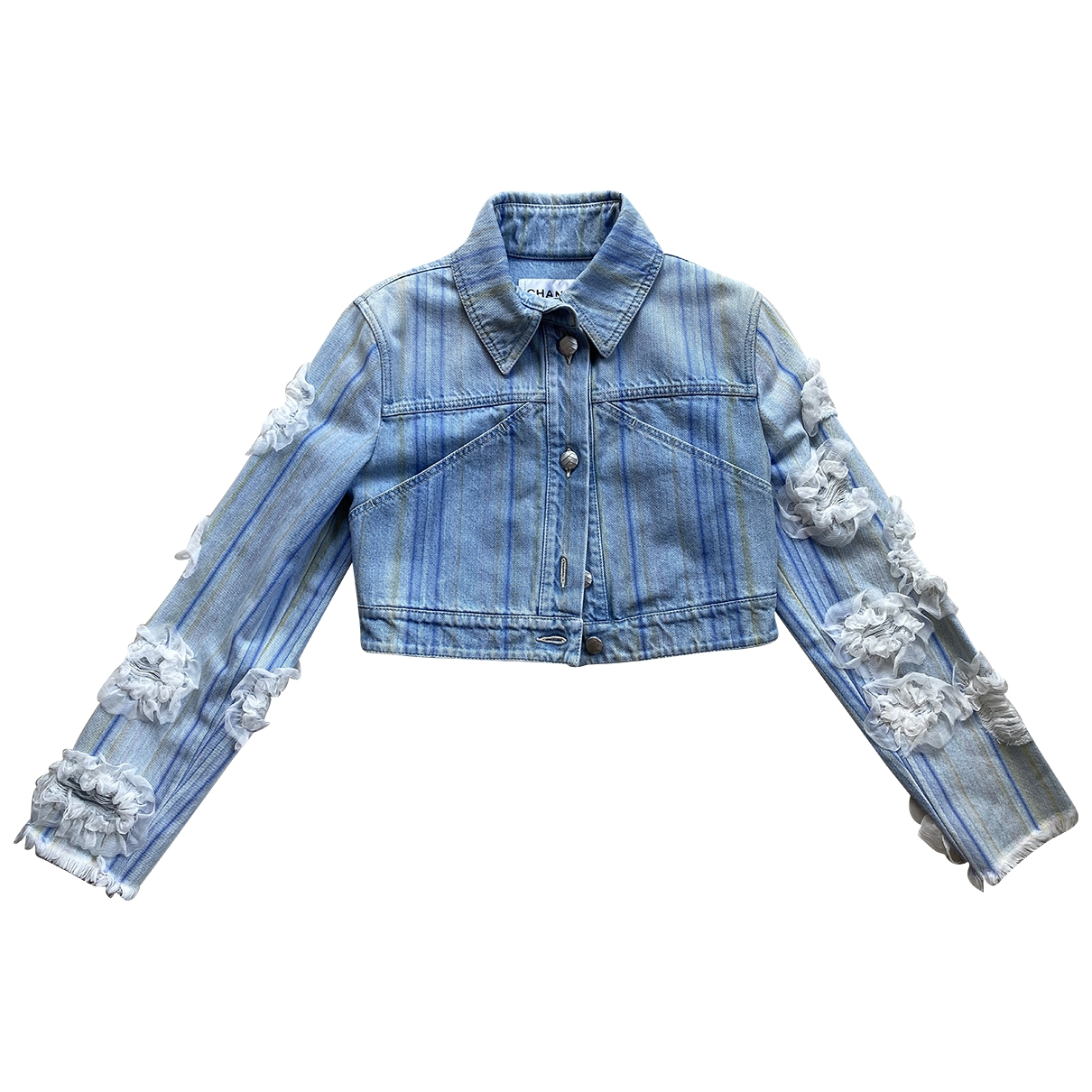 Chanel \N Jacke in  Blau Denim - Jeans