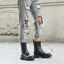 Braided Side Zip Chelsea Boots