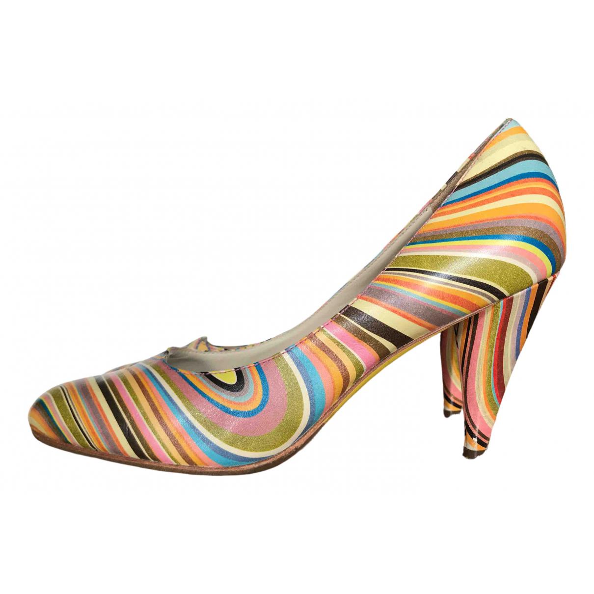 Paul Smith - Escarpins   pour femme en cuir - multicolore