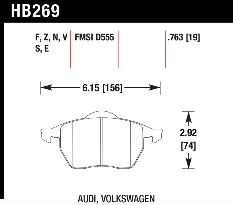 Hawk Performance HB269S.763 Disc Brake Pad Front