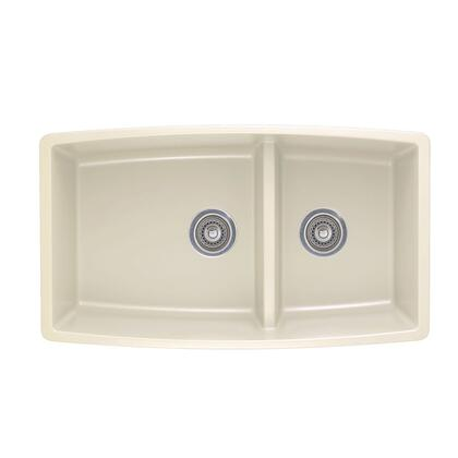 Performa 441311 Medium Double Bowl 1-3/4 Undermount Sink with Low Divide  in