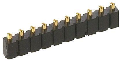 Preci-Dip , 3 Way, 1 Row, Straight Spring Loaded Connector