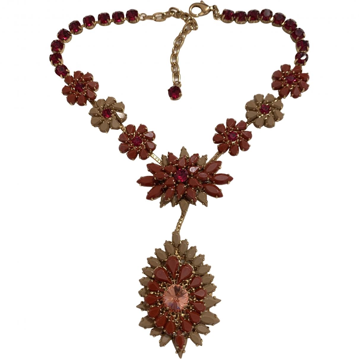 Lisa C Bijoux \N Red Metal necklace for Women \N