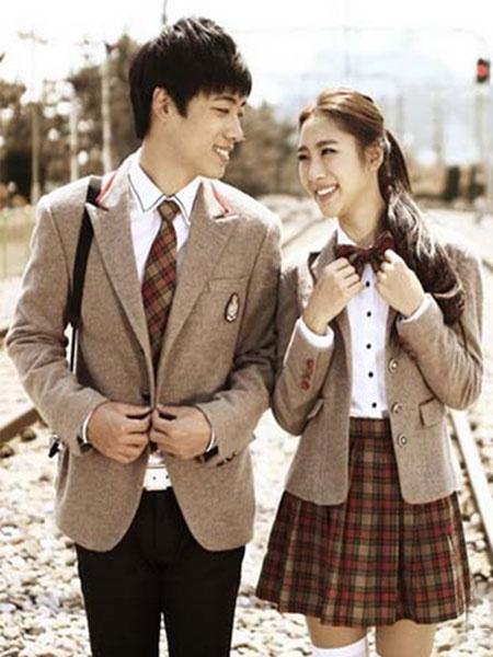 Milanoo Anime School Girl Uniform Brown British School Uniform Suit Halloween