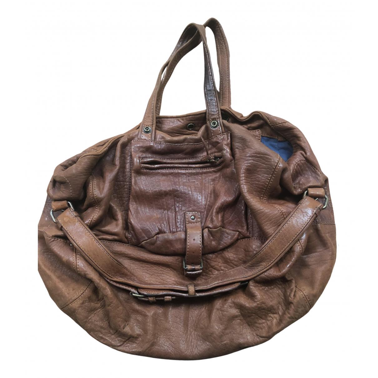 Jerome Dreyfuss Billy Brown Leather handbag for Women N