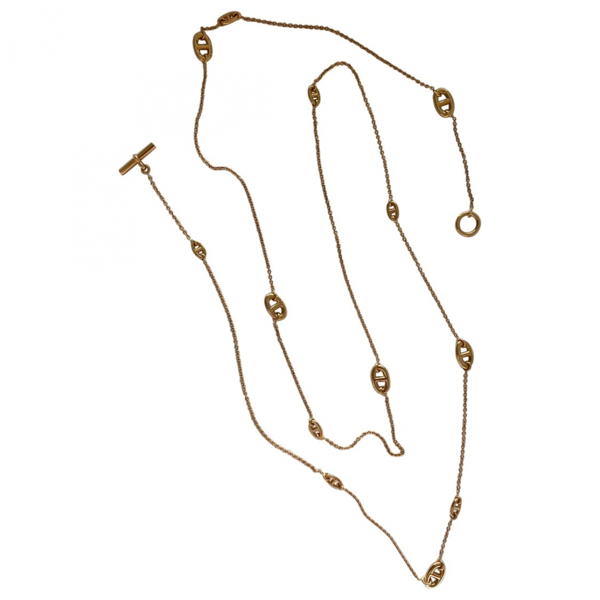 Hermès Farandole Gold Pink gold Long necklace for Women \N