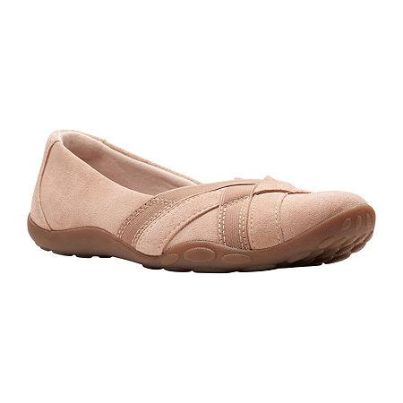 Clarks Womens Haley Jay Slip-On Shoe, 10 Medium, Beige
