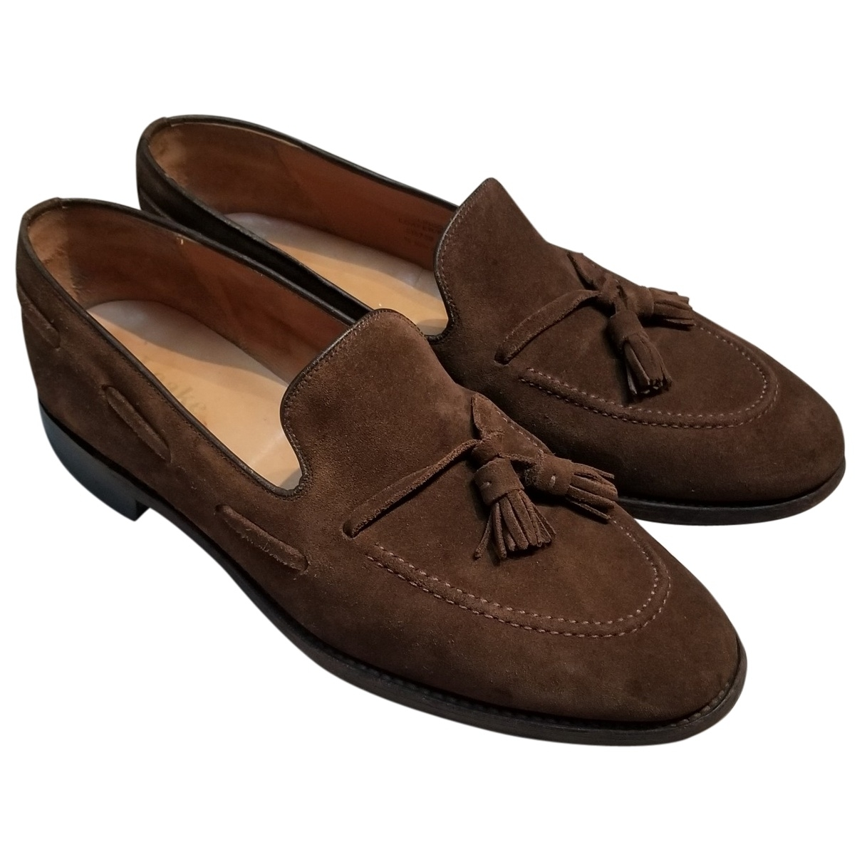 Loake \N Brown Leather Flats for Men 10 UK