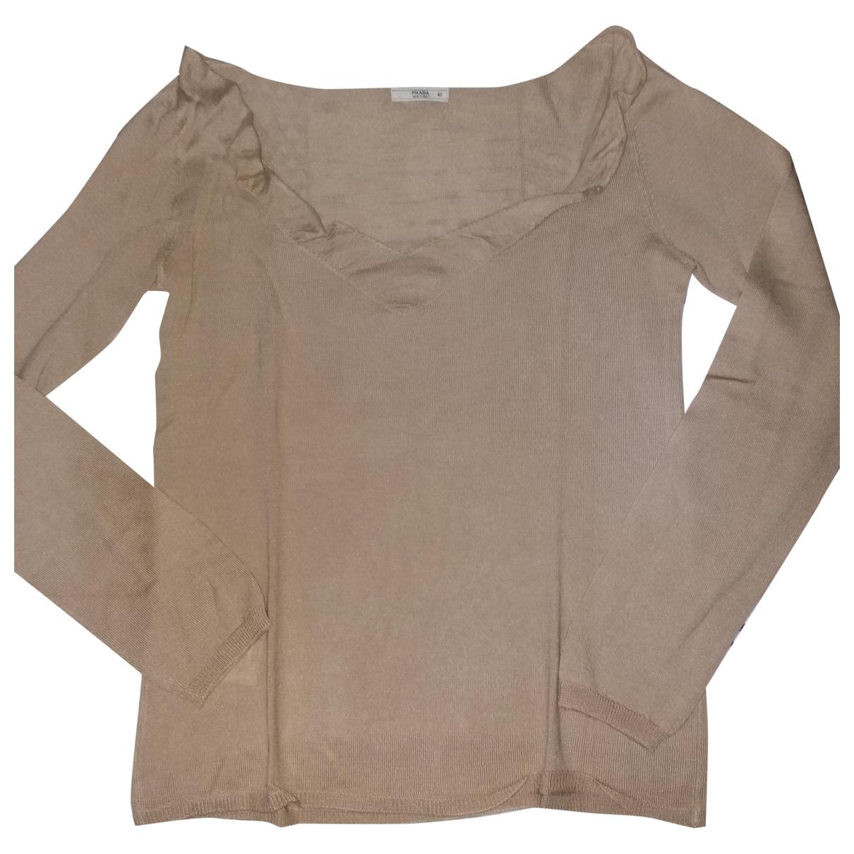 Prada \N Pullover in  Rosa Wolle