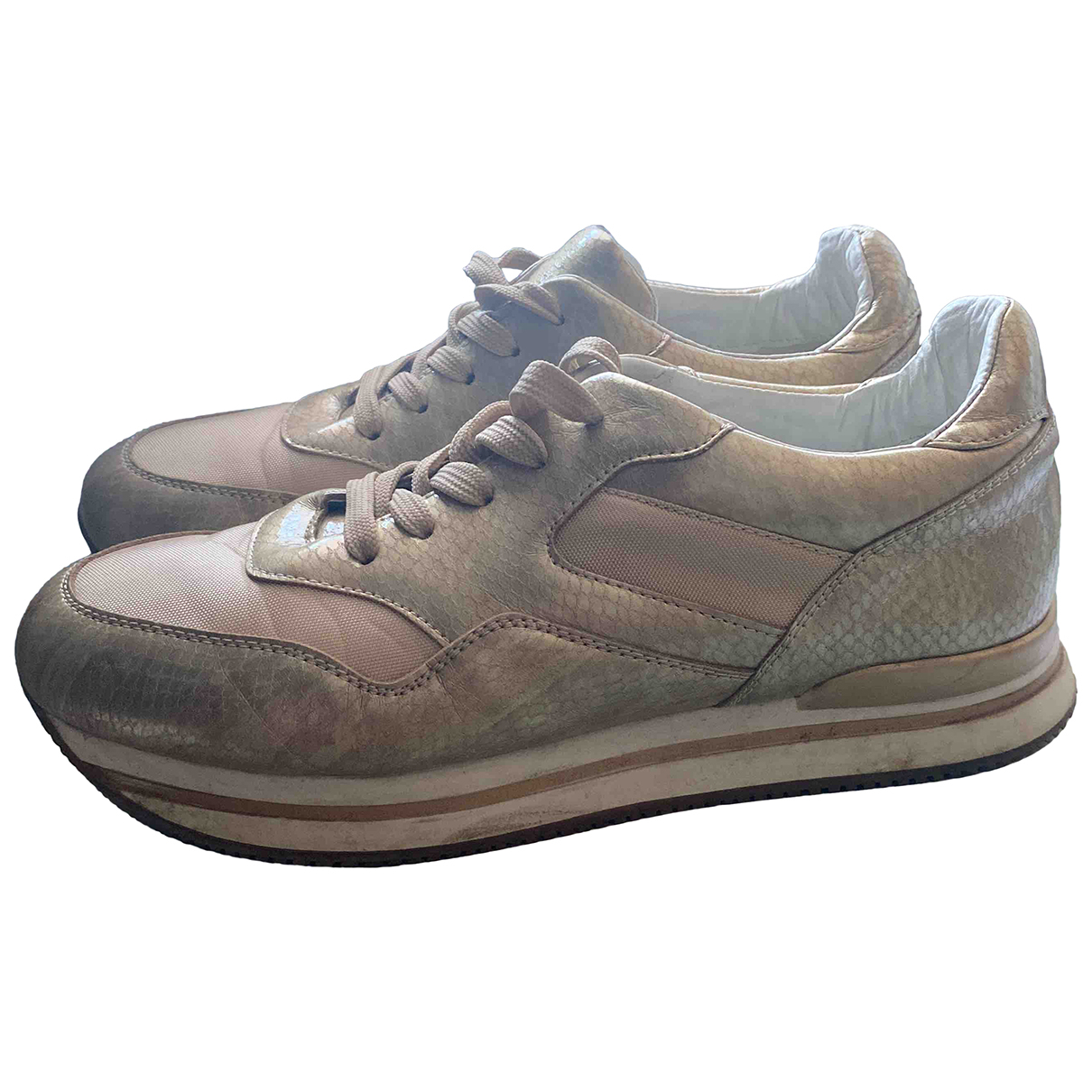 Henry Cotton \N Sneakers in  Gold Leinen