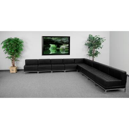ZB-IMAG-SECT-SET7-GG HERCULES Imagination Series Black Leather Sectional Configuration 9